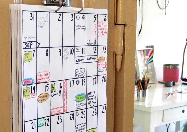 Wandkalender 2016 von hippie projects