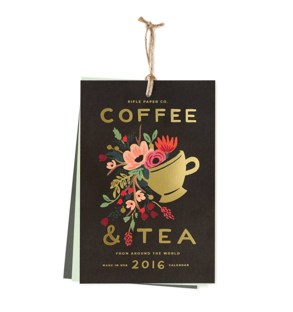 Wandkalender 2016 von Rifle Paper Co, Coffee & Tea