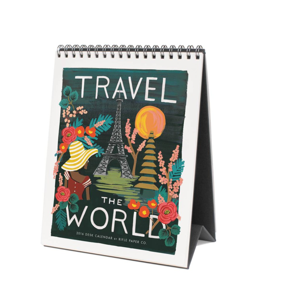 Tischkalender 2016 von Rifle Paper Co, Travel the World