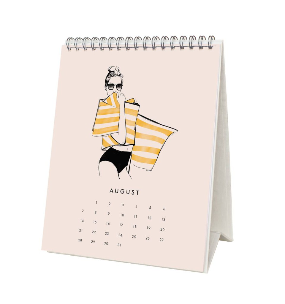 Tischkalender 2016 von Rifle Paper Co, August