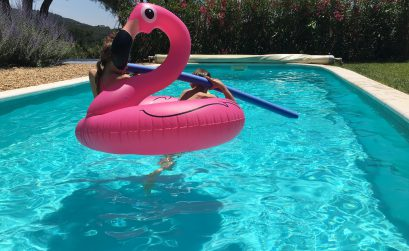 Badespaß: Flamingo Pool Float